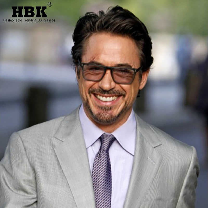 Admirable Hbk 2019 Iron Man Tony Stark Square Sunglasses For Men Women Natural Hairstyles Runnerswayorg