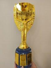 O troféu dos campeões taça jules rimet troféu copa do mundo troféu cpu agradável presente para lembranças de futebol prêmio