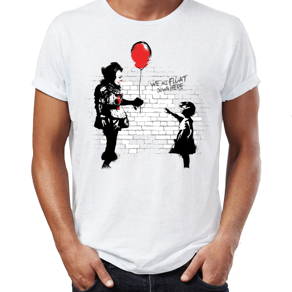 Marvel Men T Shirts Banksy Balloon Guys It Clown Horror Darth Vader Artsy Awesome Artwork Printed Tee