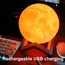 LED Moon Lamp Colorful Change Touch USB Led Night Light Home Decor Creative Gift
