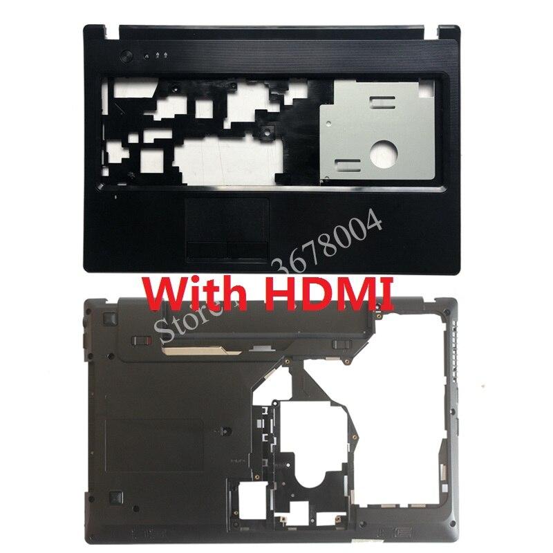 Новый чехол для ноутбука Lenovo G570 G575 Подставка для рук верхняя крышка/Нижняя крышка корпуса с HDMI