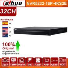 Оригинальный Dahua NVR NVR5232 16P 4KS2E DH Pro 32CH 16CH PoE порт Поддержка порта двухсторонняя Talk e POE 800M сетевая система видеозаписи