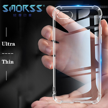 купить SMORSS Case for iPhone 6 6S 7 8 Transparent  Ultra Thin Cover Anti-Knock Coque Case Cover Bumper Clear Soft TPU Case for iPhone дешево