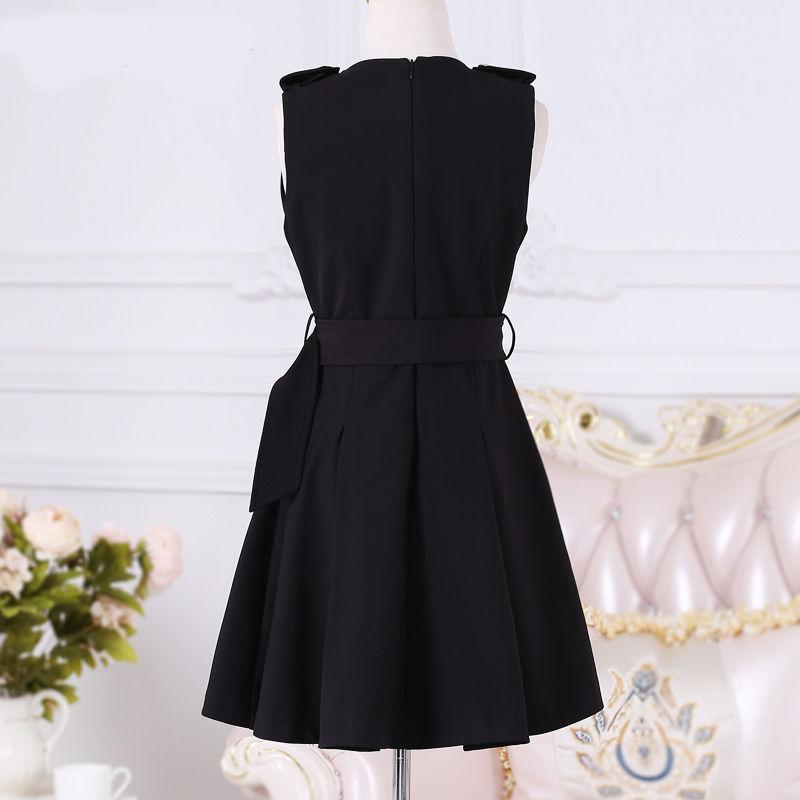 Women Dresses 2020 Spring And Autumn New Women's Black Zipper Slim British Temperament Dress Student Dresses Clothing 1