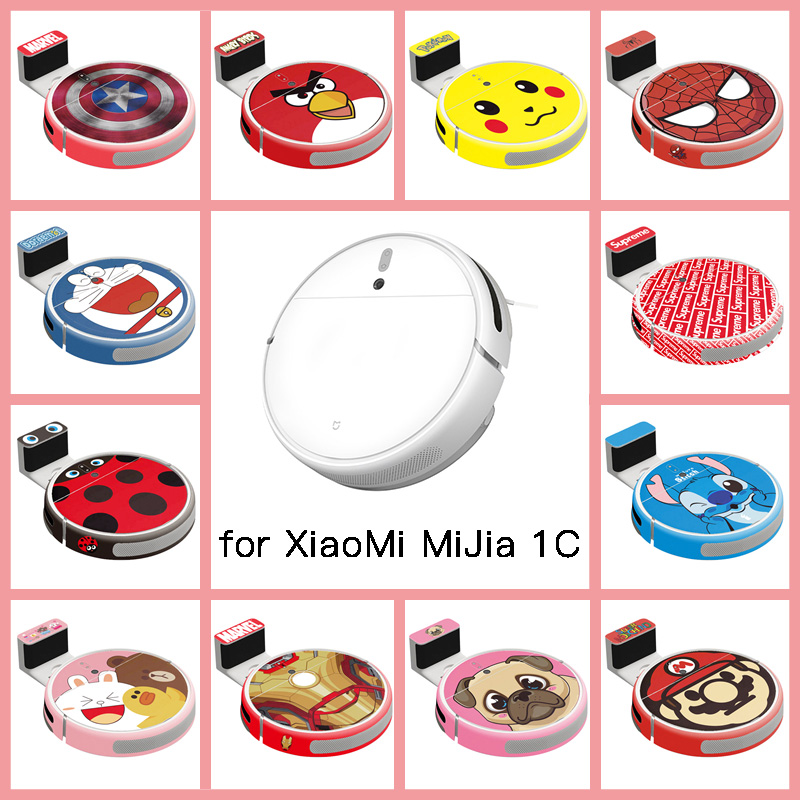 Provide Customized Custom Vinyl Cute Sticker For Xiaomi Robot Mijia Robotic 1C Vacuum Cleaner Skin Spare Parts Accessories