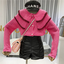 Knit Sweater Women Winter Clothes Cardigans Single Breasted  Sweaters Fashion 2019 DoubleTurn-down Collar