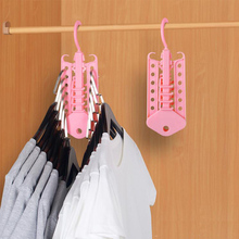 Storage Rack Magic Hanger Multi-Function Plastic Telescopic Folding Space Hangers Home