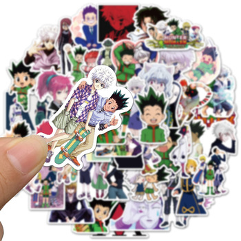50pcs Hunter x Hunter Adventure Pvc Waterproof Sticker For Luggage Wall Car Laptop Bicycle Motorcycle Notebook Toys Stickers image