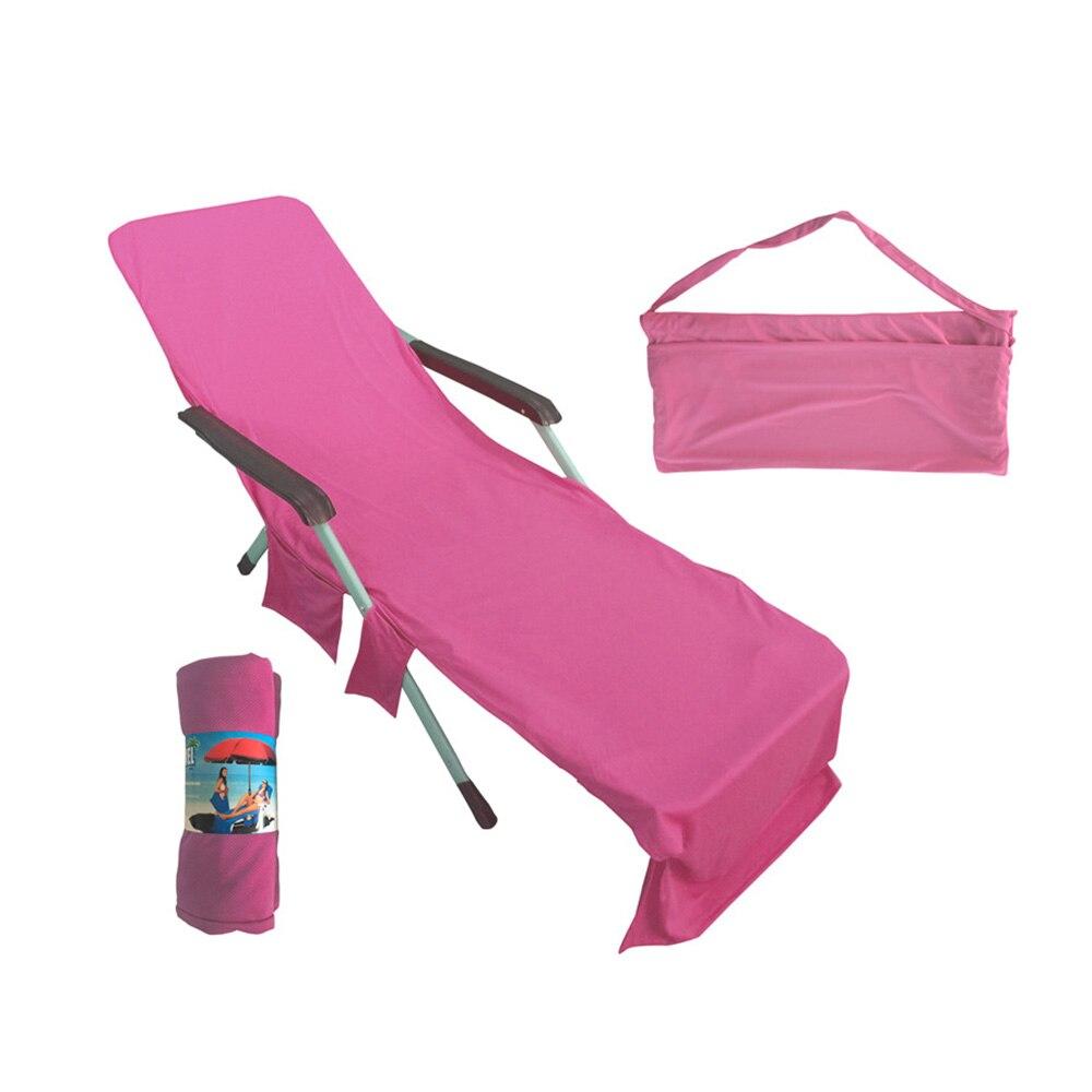 Cadeira de praia portátil toalha longa cinta