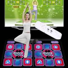 Проводной Коврик для танцев, компьютерное ТВ, одеяло для похудения и танцев с двумя соматосенсорными геймпадами, версия с цветными лампочка...
