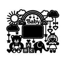 GJCrafts Baby Bear Elephant Frame Metal Cutting Dies for Craft Scrapbooking Embossing Stencil DIY Die Cut Card Decoration