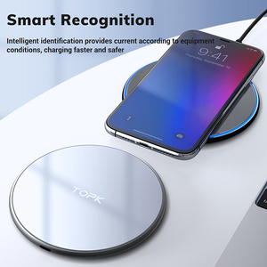 Image 3 - Topk b02w 10w carregador sem fio led portátil universal rápido carregador de telefone sem fio para samsung s10 s9 s8 xiaomi mi9
