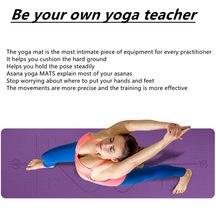 Novos iniciantes 1830*610*6mm tpe esteira de yoga, com linha de posicionamento antiderrapante, respirável, sem suor e fácil de limpar esteira