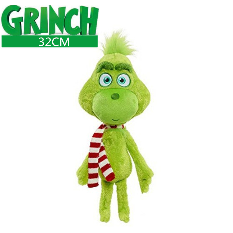 32cm Grinch Plush Toys Grinch Max Dog Plush Doll Toy Soft Stuffed Toys For Children Kids Birthday Festival  Gifts