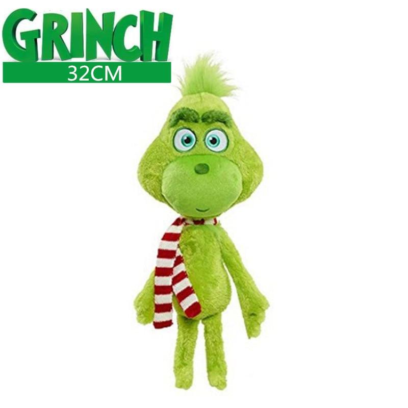 32cm Grinch Plush Toys Grinch Max Dog Plush Doll Toy Soft Stuffed Toys For Children Kids Birthday Festival Gifts