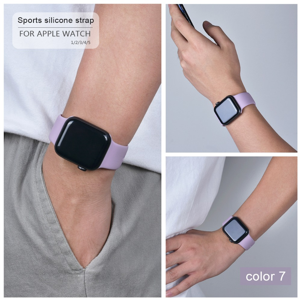 Soft Silicone Band for Apple Watch 96