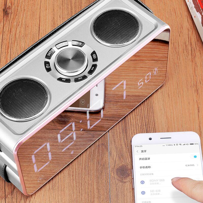 Espelho mágico 25W Música estéreo de Alta Qualidade Sem Fio Bluetooth Speaker Portátil caixa de som surround Orador Ao Ar Livre Baixo TF/ FM/USB - 2
