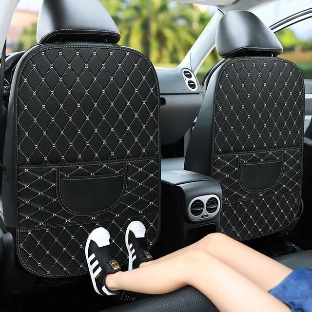 1 PCS Car Seat Back Cover Protector for Kids Children Anti Kick Pad Waterprrof Car Seat Kids Protector Car Accessories Interiors