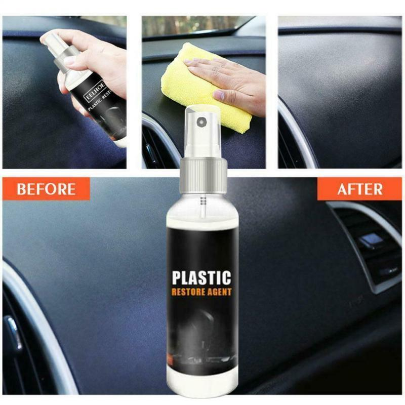 30ml Hot Car Plastic Parts Retouching Agent Repair Interior Retouching Wax Instrument Panel Wax Agent Car Cleaner TSLM1