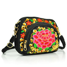 2020 New Ethnic Embroidery Bag Double-sided Canvas Coin Purse Mobile Phone bags Women's Mini Diagonal Bag Fashion Waist Pocket vintage embroidery wallet new national ethnic embroidered long purse small clutch bag mobile phone coin bags