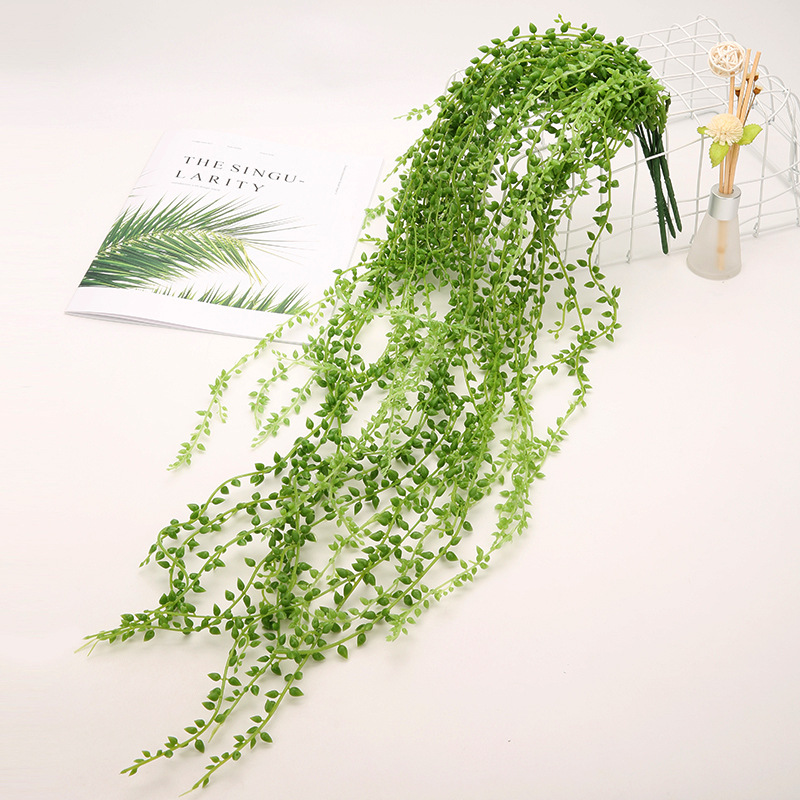 Artificial Succulent Beads Fake Hanging Vine String Of Pearls Lover Tears Plants For Home Wedding Party Garden Decor Faux Plants