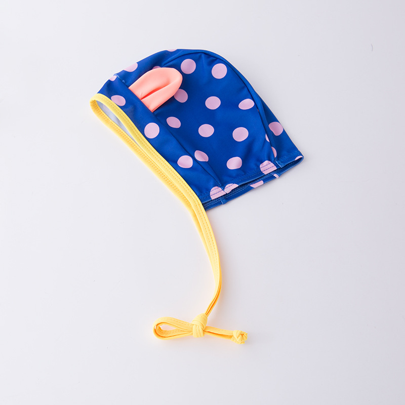 KID'S Swimwear GIRL'S One-piece Swimming Suit Cat Blue And Yellow Mixed Colors Swimwear Hooded Hot Springs Tour Bathing Suit Bea