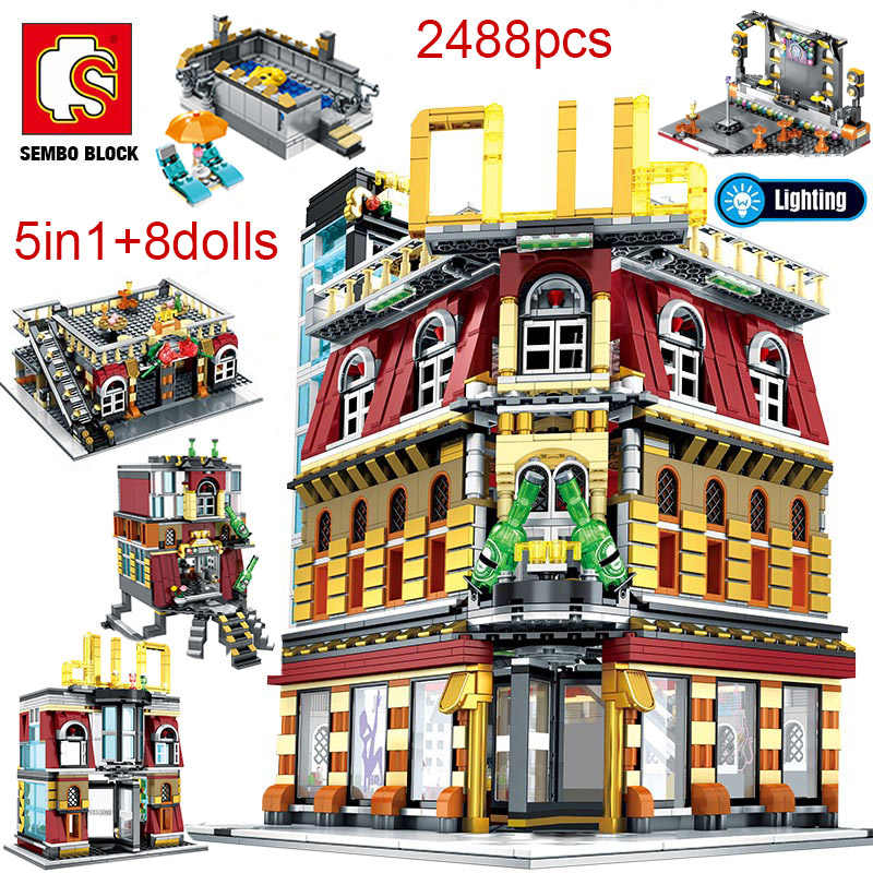 Details about  /Dedlivery in 7-15 day-1278pcs Blocks Architecture Forbidden City business Street