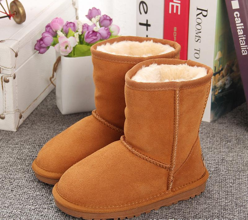 New Plush Warm Baby Toddler Boots Fashion Child Snow Boots Shoes For Boys Girls Winter Shoes Kids Ankle Boots