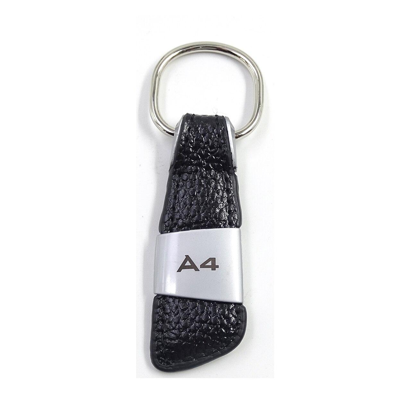 Автомобильная эмблема, значок из натуральной кожи, брелок для Audi A1 A3 A4 A5 A6 A8 TT Q2 Q3 Q5 Q7 Q8, брелок для ключей, автомобильный стиль - Название цвета: 1pcs A4