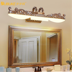 Image 2 - Iluminação de parede europeia, lâmpada para espelho de armário, banheiro americano, à prova dágua, farol retrô