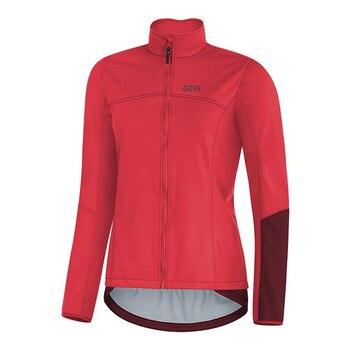 GORE-Ropa de ciclismo de invierno para mujer, chaqueta de manga larga de...