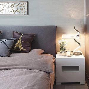 Image 4 - Espiral conduziu a lâmpada de mesa moderna curvada lâmpada cabeceira regulável branco/branco quente/natureza luz branca para sala estar quarto