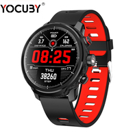 YOCUBY L5 Smart Watch Men IP68 Waterproof long Standby Multiple Sport Mode Heart Rate Monitoring Weather Forecast Bracelet PK L7