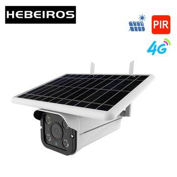 Hebeiros 4G LTE FDD GSM HD 1080P Solar Battery Wireless Outdoor Camera Waterproof Audio 2MP Security Surveillance CCTV IP Camera