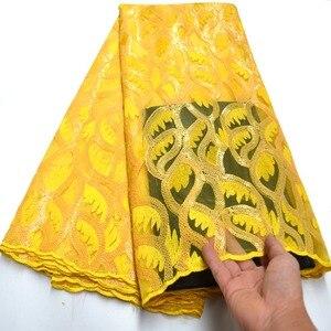 Image 5 - Tissu dentelle à paillettes africaines bleu Royal