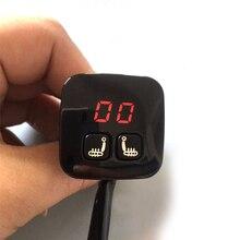 Цифровой 5 передач дисплей переключатель подогревателя сиденья 2 места 12 В для водителя и пассажира чехлы для сидений авто Подогрев набор