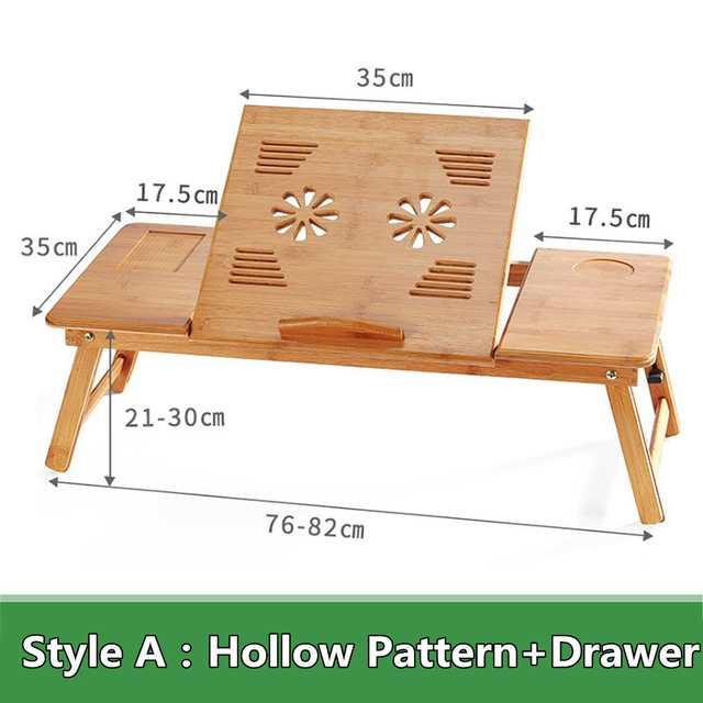Portable Folding Bamboo Laptop Table 4