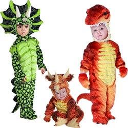 Nuevo traje de Triceratops chicos niños disfraz de T-Rex Cosplay dinosaurio mono de Halloween Disfraces de Navidad Cosplay para niños