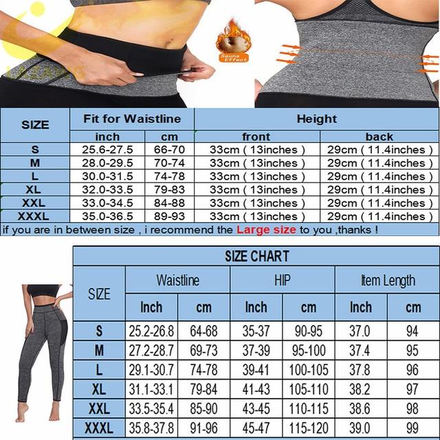 LAZAWG Women Waist Trainer Belts Suits Weight Loss Hot Neoprene Sauna Sweat Pants Workout Sets Capris Leggings Body Shaper 5