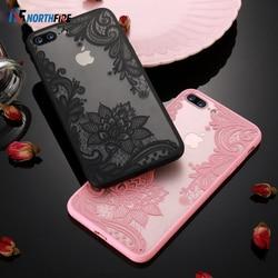 Чехол с кружевным цветком NORTHFIRE для iPhone 8 Plus 8 7, винтажный цветочный чехол для iPhone 7 6S 6 Plus 5S 5 XS Max XR X 10 11 Pro Max Funda