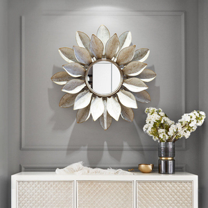 Moderne Smeedijzeren Muur Opknoping Decoratieve Spiegel 3D Muurschildering Ambachten Ktv Thuis Woonkamer Muur Achtergrond Metalen Ornament Decor