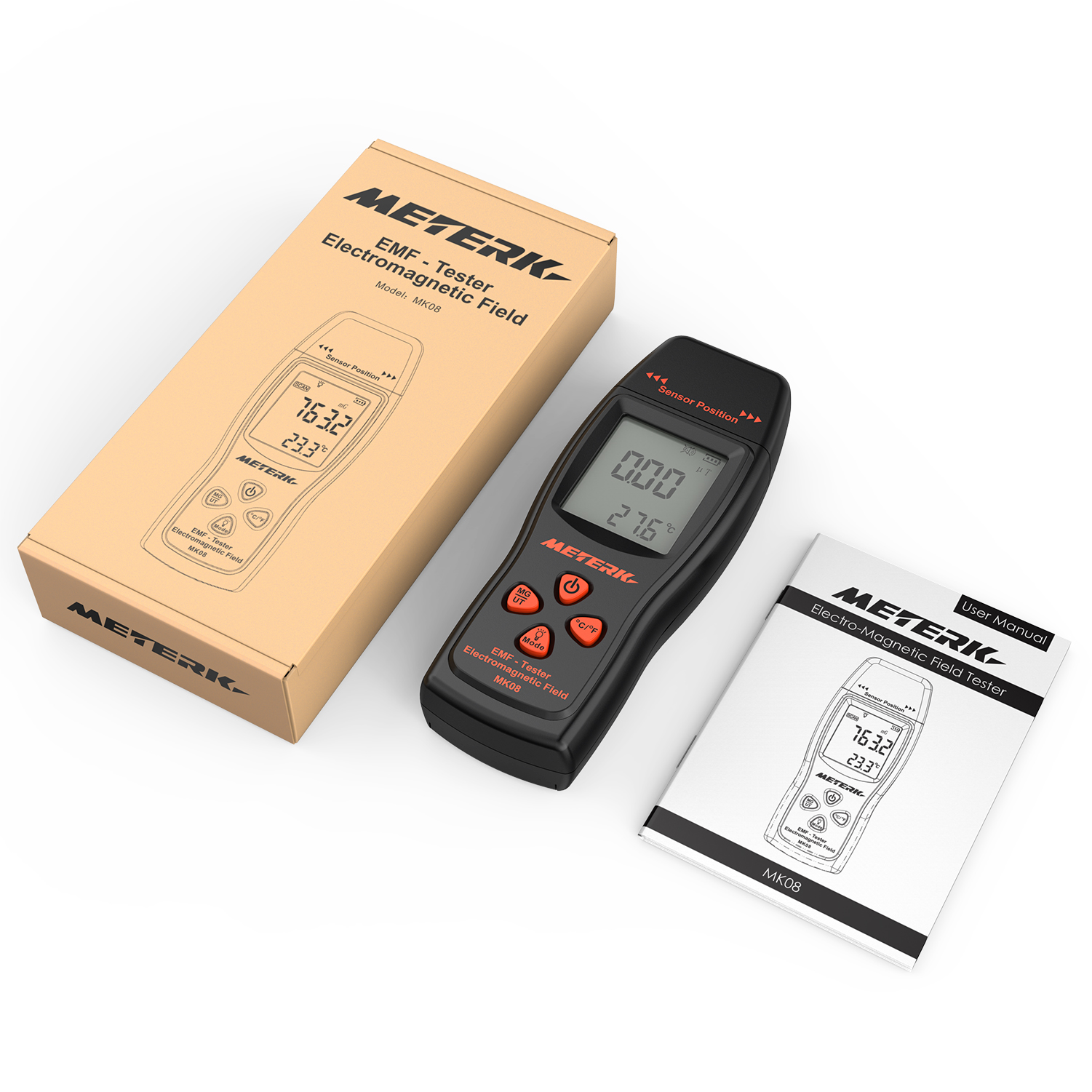 EMF Meter Electromagnetic Field Radiation Detector Handheld Mini Digital LCD EMF Detector Dosimeter Tester Counter