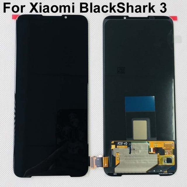 "6.67"" AMOLED Original New For Xiaomi BlackShark 3 LCD Display Screen+Touch Panel Digitizer With Fingerprint For Black Shark 3"