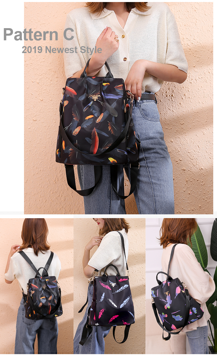 H46bfb3f794d847238f6770c6d863e2c2U - Vadim New Fashion Women Backpacks  Waterproof Oxford Backpack Female Anti Theft Bagpacks School Bags for Girls Mochila Mujer