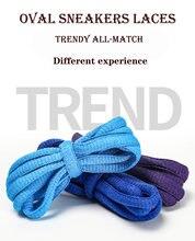 1 para 120 cm owalne sznurowadła 19 kolorów trampki sznurowadła sznurowadła sznurowadła buty sportowe sznurowadła sportowe sznurowadła