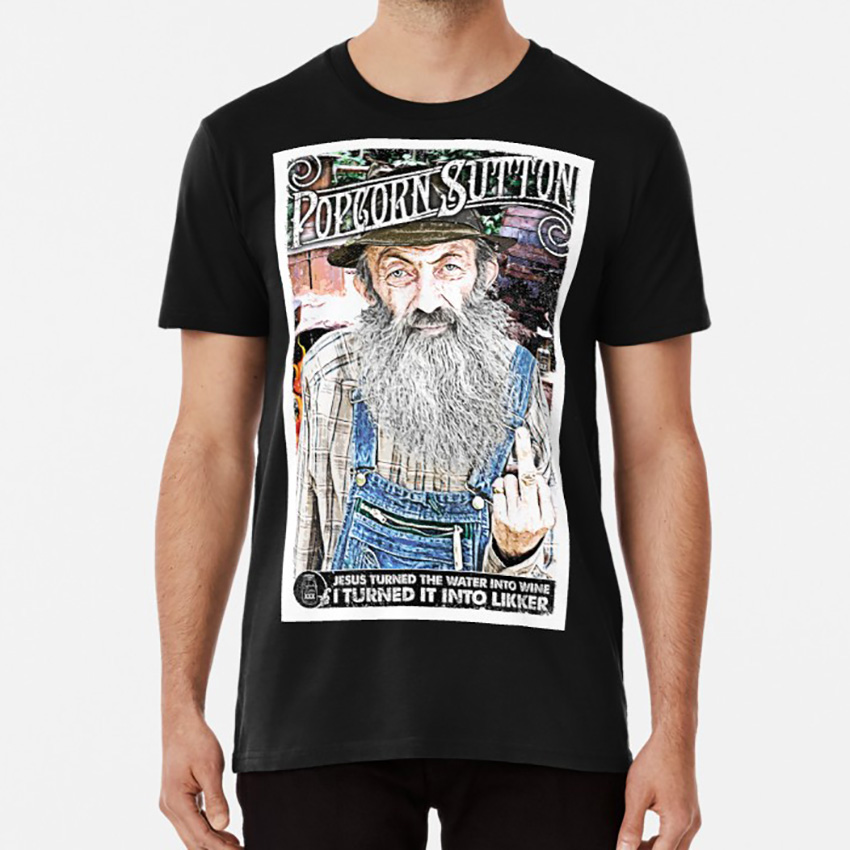 Moonshine Popcorn Sutton T shirt moonshine whiskey popcorn sutton hillbilly tn tennessee north carolina outlaw quote image
