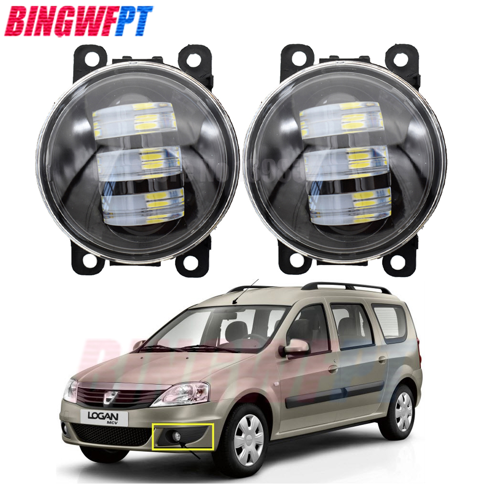 2x H11 Car Halogen Bulb Fog Light <font><b>LED</b></font> Lamp For <font><b>Renault</b></font> <font><b>Duster</b></font> Closed Off-Road Vehicle 2012-2015 For Dacia Logan MCV 2009-2013 image