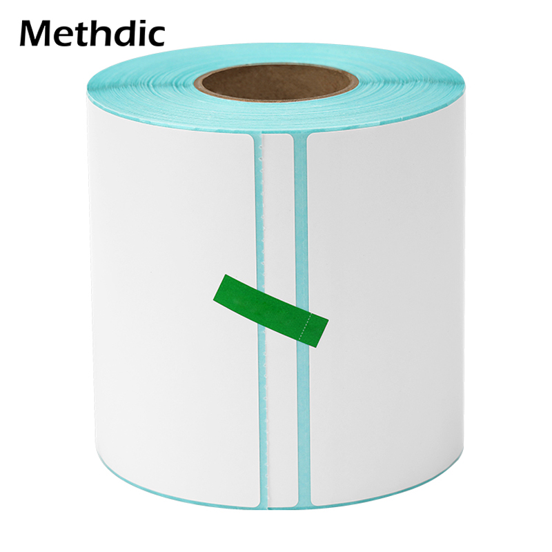 Methdic 100x100mm Supermarket Price Blank Stickers Address Labels Personalized Roll