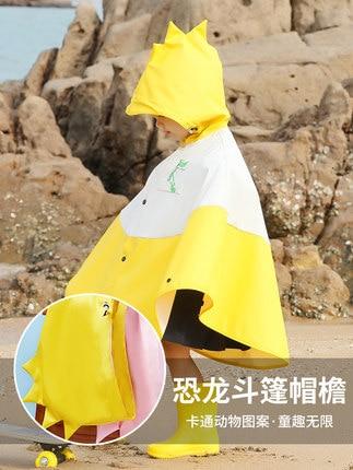 Creative Cartoon Children Raincoat Boys and Girls Long Kids Rain Coat Jacket Kindergarten Yellow Waterproof Cute Rain Poncho 1