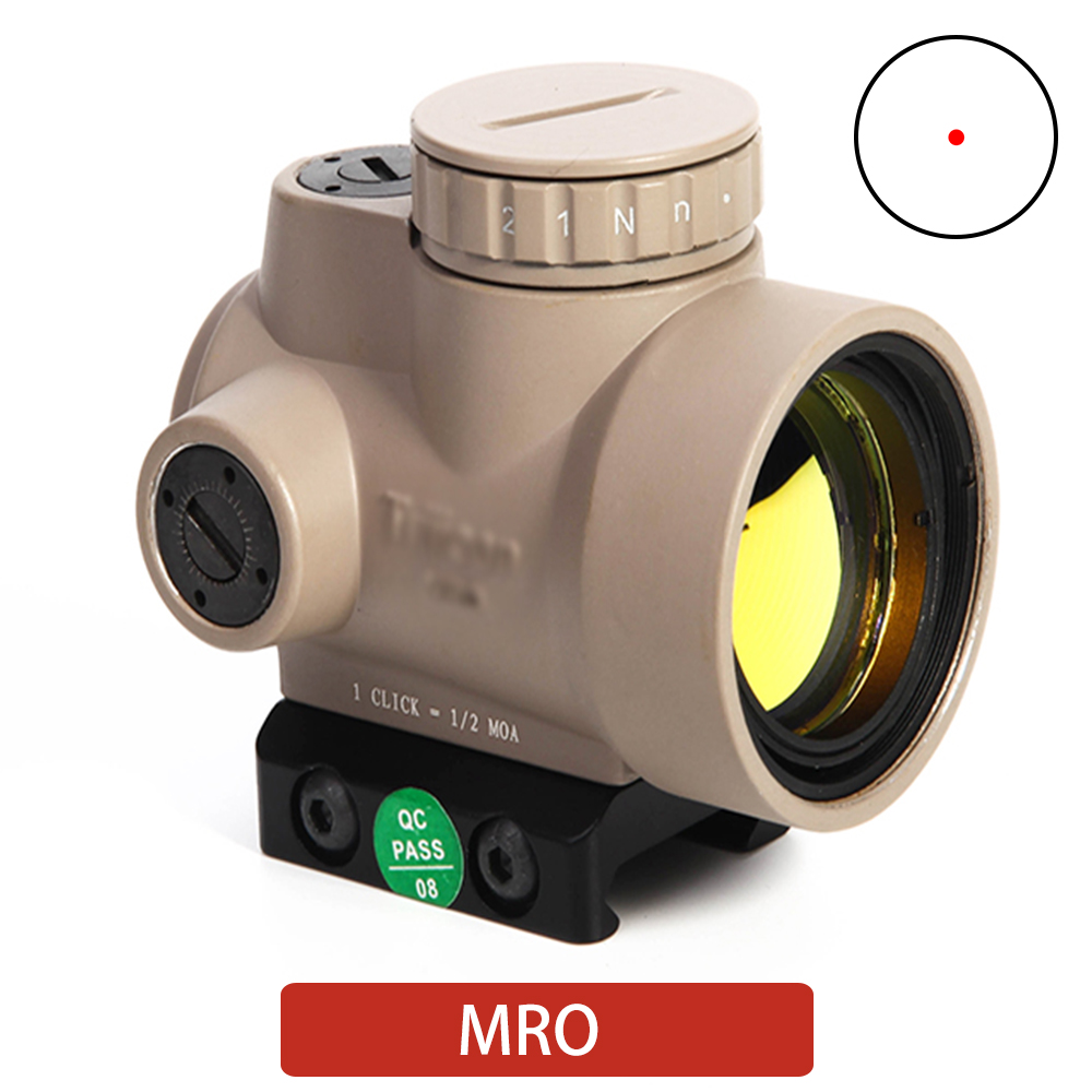 MRO Holographic Red Dot Sight Scope Tactical Optics Trijicon Hunting Rilfe Scope 20mm Rail Air Gun Reflex Sight Riflescope
